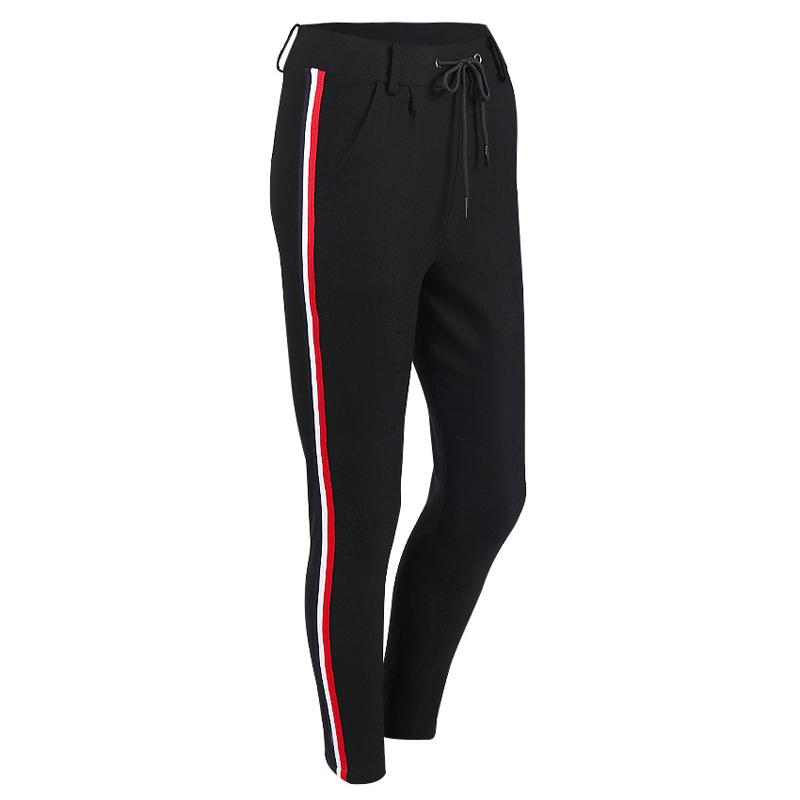 HTB10urQjS7PL1JjSZFHq6AciXXaW - FREE SHIPPING High Waist Knit Red Striped Sideseam Sweatpants JKP257