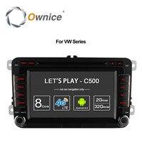 Ownice Android 6.0 8 Çekirdek 32G ROM Için Araba DVD Oynatıcı Volkswagen GPS Navi Ile Passat POLO GOLF Skoda Seat Leon 4G LTE Ağ