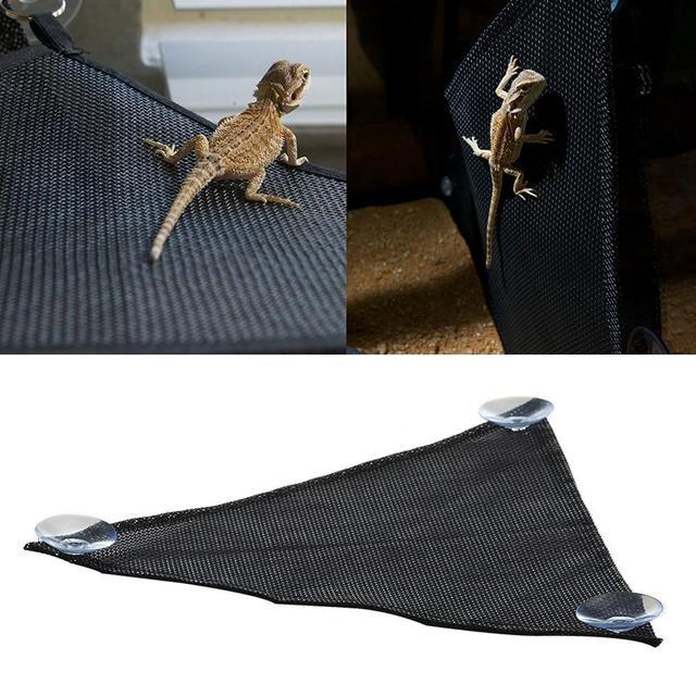 2pcs Pet Reptile Hammock Breathable Nylon Mesh Crawler Hammock Pet Hammock Lizard Swing Mesh Mat Pets Amphibian Toy Pet Supplies