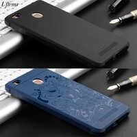 Fall für Xiaomi Redmi 3 s 4 Pro Prime Stoßfest Weiche Silikon 3D geschnitzten Drachen Schlanke rückseite fall für redmi hinweis 2 3 4 4X