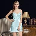 Mulheres Sexy Nightgowns Rendas Plus Size Vestido de Roupa de Dormir De Seda do Sono Casa Das Senhoras Vestido de Verão Estilo