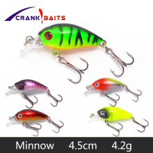 Mini Crankbait Fishing Lure 45mm 4.2g Topwater Isca Artificial Japan Hard Bait Minnow Swimbait Trout Bass Carp Fishing YB209