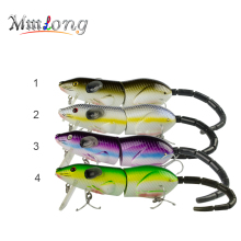 "Купить с кэшбэком Mmlong 5.5"" Rat Fishing Lure Realistic Mouse Crankbait Swim Bait Rat1-M 69g Lifelike Fishing Wobbler VMC Treble Hooks Tackle"