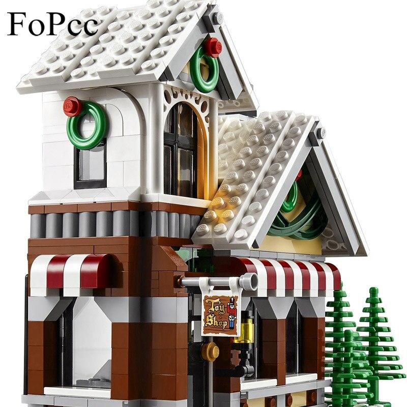 39015 945 Pcs Hiver Village Jouet Créateur DE NOËL ARBRE Briques de Construction Blocs Jouets Compatible 10249 Brinquedo Legoings