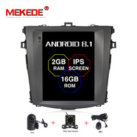 MEKEDE 10,1 дюймов Android 8,1 dvd плеер автомобиля стерео комплект с gps навигатором для Toyota Corolla 2007 2012 Satnav мультимедиа аудио