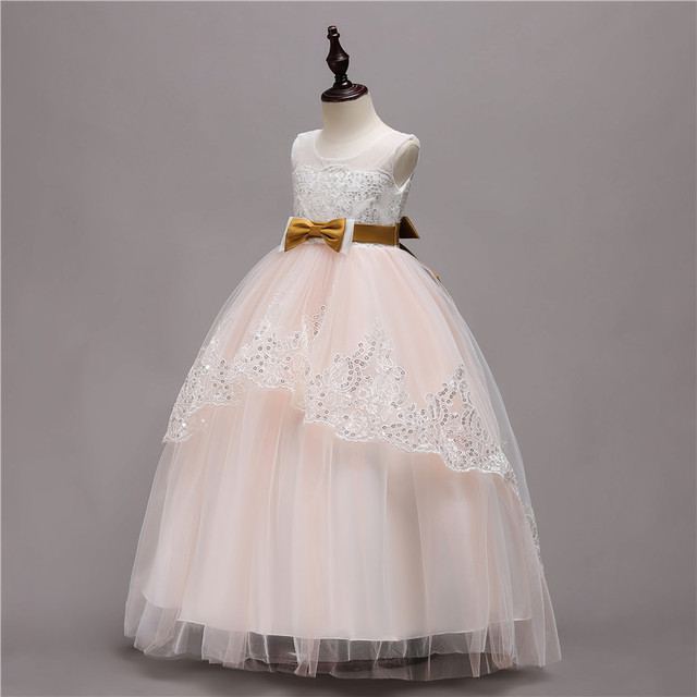 Princess Dress For Girls Party Dresses Kids Formal Wedding Tutu Flower Girls Dresses For Girls Children Clothing size 3-14 T