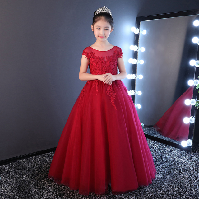 Aliexpress.com : Buy Elegant Flower Girl Dresses Scoop Red Lace ...