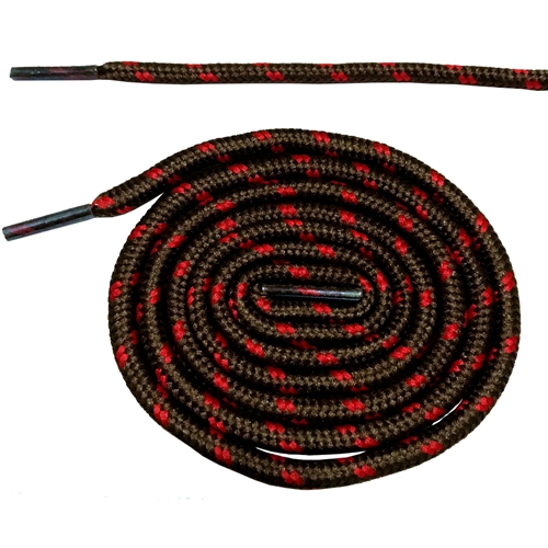 Круглые ботильоны без шнурков шнурки с точками 10 цветов 180 см/70,5 дюйма - Цвет: brown and red