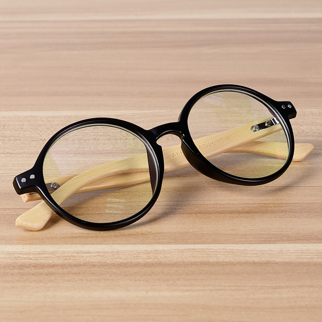 2c3855a4a4e Handmade Round Frame Bamboo Glasses Women Men Vintage Personality Wooden  Clear Eyewear Cool Wood Prescription Spectacle