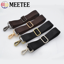 Meetee Belt 1pc 5pcs Nylon Webbing Ribbon Bag Strap Backpack Shoulder With Metal Buckles Accessories 38mm ZK2528