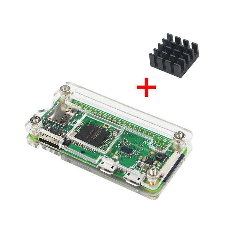 Latest Raspberry Pi Zero W Acrylic Case + Aluminum Heat Sink for RPI Zero Box Cover Shell Enclosure Cases also for RPI Zero V1.3 high quality protective aluminum alloy case enclosure box for raspberry pi model b silver