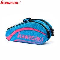 Kawasaki King Series Badminton Bag Large Capacity Racquet Sports Bag For 6 Badminton Rackets With Two Shoulders KBB 8652