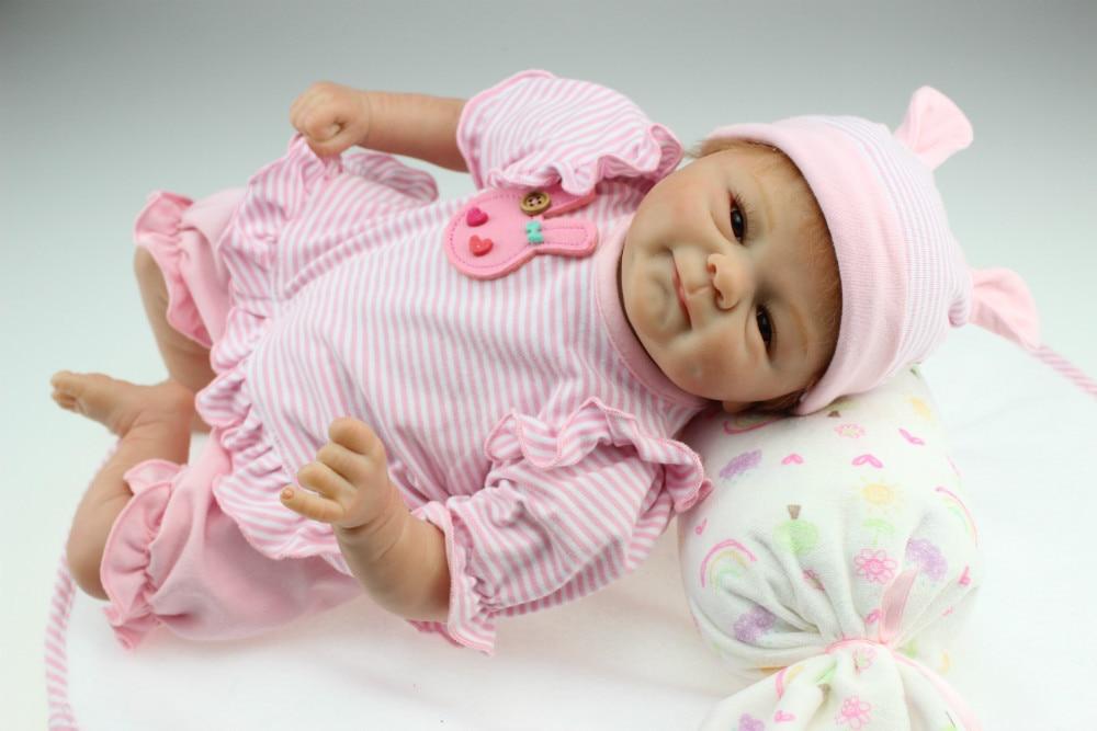 NPKCOLLECTIO Real 40 cm de silicona adora peluche metoo bebé recién nacido realista magnética chupete bebes reborn muñecas de juguete-in Muñecas from Juguetes y pasatiempos    1