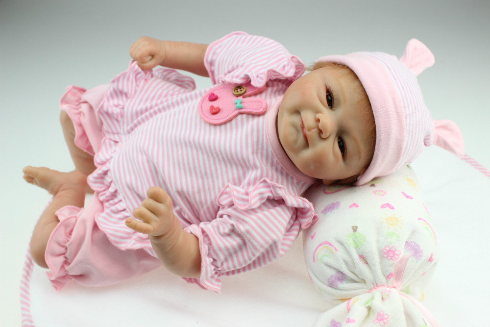 NPKCOLLECTION lifelike bebe reborn bonecas soft real touch silicone vinyl baby dolls hot toys Christmas gift