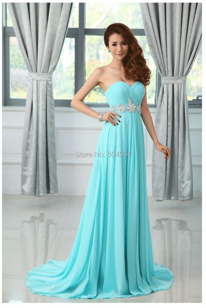 17496fa02 Vestidos de noche color azul cielo – Vestidos baratos