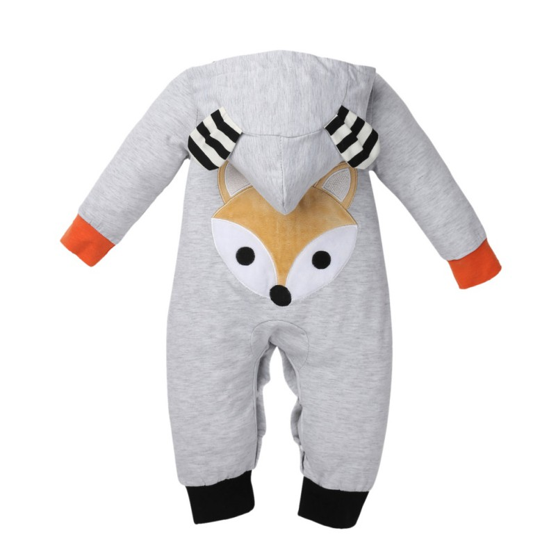 New Spring Autumn Baby Rompers Cute Cartoon fox Infant Girl Boy Jumpers Kids Baby Outfits Clothes