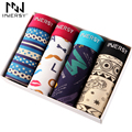 Innersy 2017 Panties 4Pcs\lot Mens Colorful Underwear Boxers Modal Boxer Men Printed Boxer Shorts Boxers Mens Underwear lot