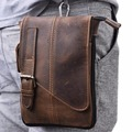 100% Crazy Horse Cowhide Men Waist Bags Military Casual Multifuction Genuine Leather Crossbody Bags Hook Purse Pouch Fanny Pack