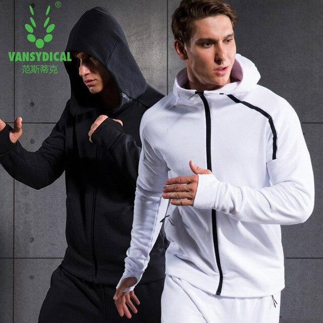 Nuevo Otoño Invierno 2016 hombres chaqueta de correr entrenamiento sudadera  XXL primavera deportes cremallera Outwork ropa 53681f4831e65