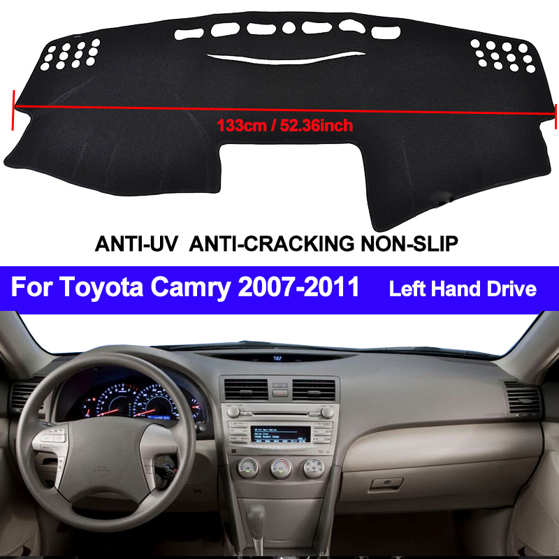 TAIJS Car Dashboard Cover Dash Mat Dash Pad DashMat ANti UV For Toyota Camry Board Cover Pad Carpet 2007 2008 2009 2010 2011-in Car Anti-dirty Pad from Automobiles & Motorcycles