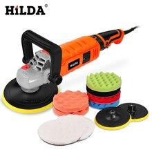 Hilda 1200w carro polisher velocidade variável 3000rpm ferramenta de cuidados pintura do carro máquina polimento lixadeira 220v m14 polidor piso elétrico