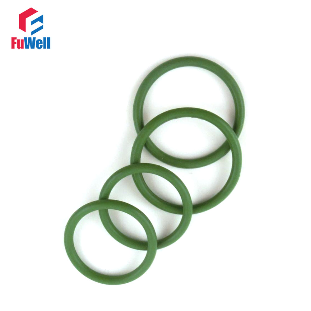 цена на 5pcs 3.5mm Thickness FKM O Ring Seal Gasket Washer Green Viton 80/82/85/88/90/92/95/100/105/110/115mm OD Fluorine Rubber O-Ring