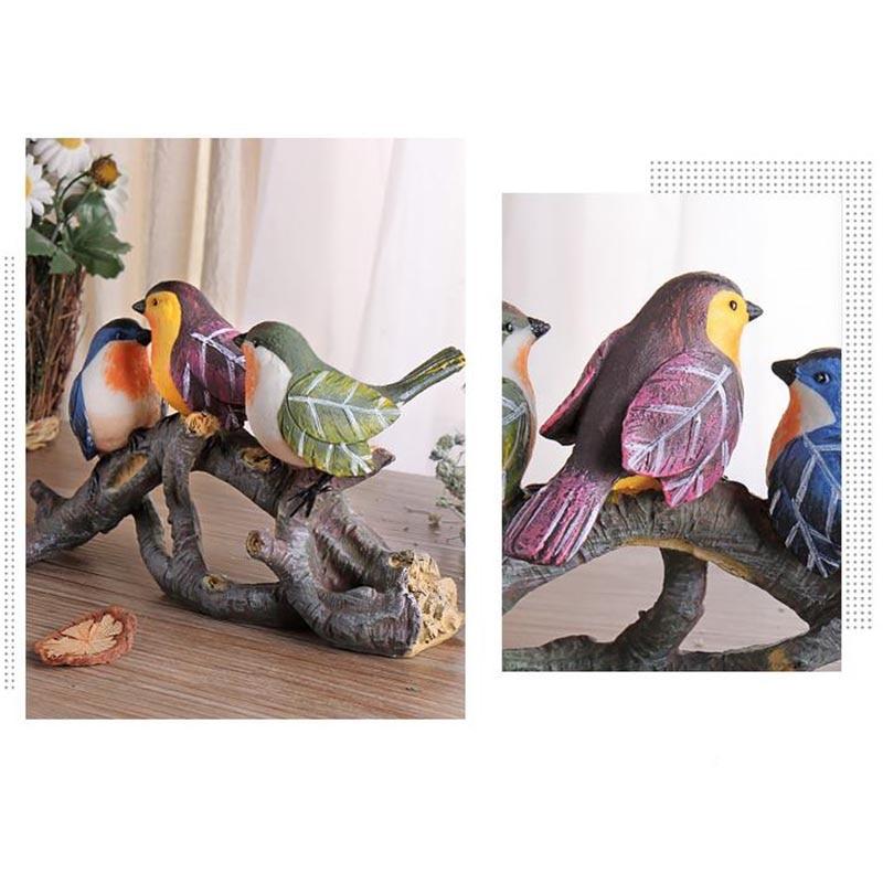 Креативная Смола милые птицы ветви деревьев украшения дома чайная церемония художественные фигурки офисные модные свадебные подарки ручн... - 6