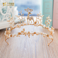 Baroque Crown unique women Tiara crystal lovely Hair ornaments charming jewelry hairband Bridal Wedding Accessories Gifts xiaolu