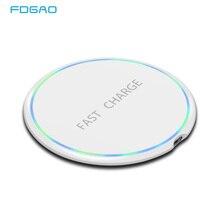 FDGAO 10w Qi Wireless Charger For iPhone X Xs Max XR 8 Samsung S10 S9 Xiaomi Mi 9 Mix 3 QC 3.0 Fast Charging Pad