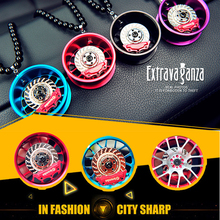 Creative upscale car wheel hub car interior car ornaments car accessories ornaments Jushi pendant female