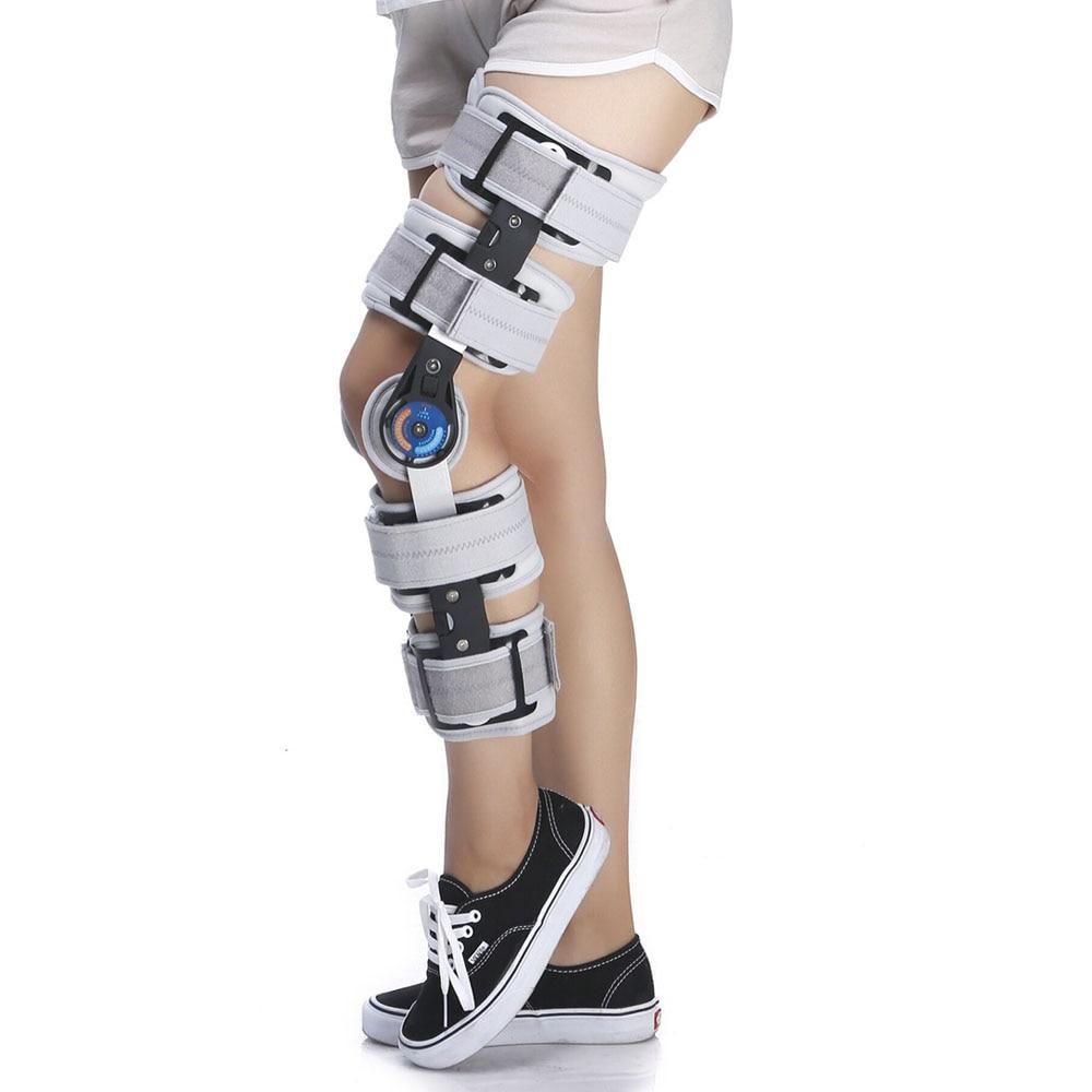 Médical Articulé Vif ROM Genouillère Angle Réglable fixation Chirurgicale du dispositif de stabilisation Fracture Soutien Entorse Post-op