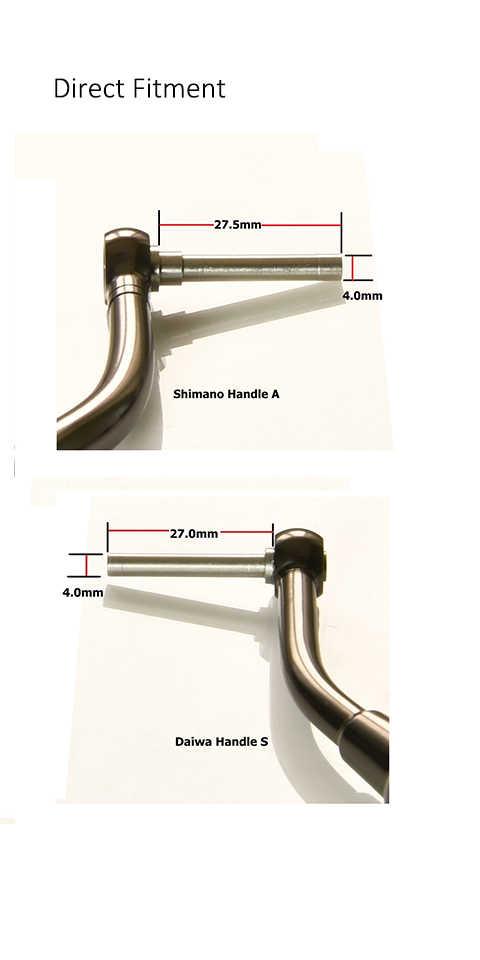 Gomexus Reel Handle Power Knob For Shimano Stradic FK CI4 Sahara Direct Daiwa Freams BG Penn Spinfisher 1000 - 4000 Drill 38mm