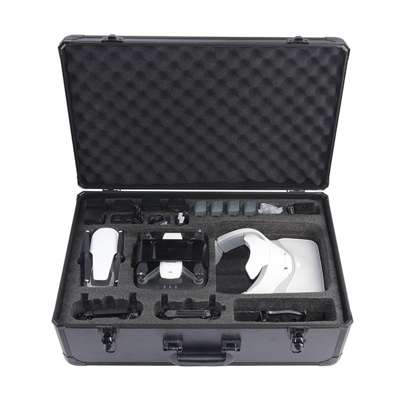 Aluminum Box HardShell Carry Case for DJI Mavic Air & DJI Spark Drone & DJI Google VR Glassess 3-in-1 Travel Storage Bag safety transport travel hardshell drone case for dji goggles vr glasses mavic pro bag for dji spark box storage accessories
