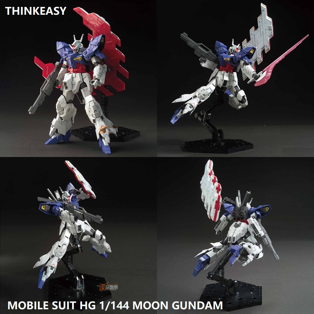 US $33 66 9% OFF|MOON Gundam Model HG 1/144 Banshee UNICORN Jegan AMS 123X  X Delta Armor Unchained Mobile Suit Kids Toys-in Action & Toy Figures from