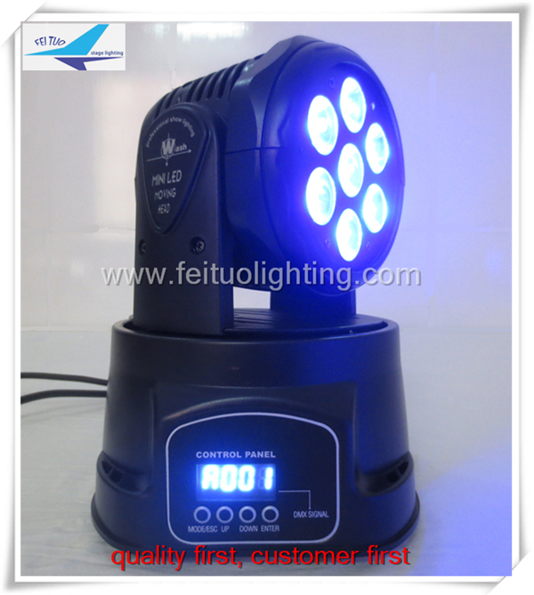 24lot Disco led light mini led moving head 7x12w led mini moving head manual