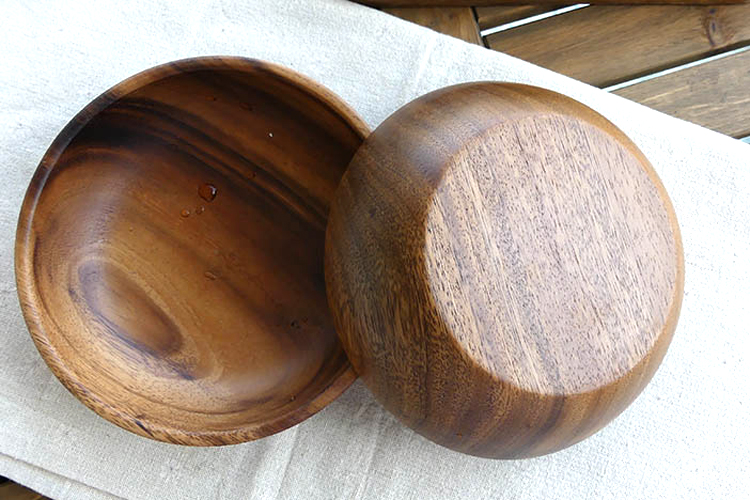 Large Round Wooden Salad Bowl Premium Acacia Wood Tableware Fruit Salad Food Serving Bowl Kitchen Wooden Utensils Wood Dishes (9)