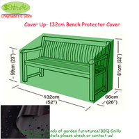 Cover up 132cm Bench Protector cover,132x66x59/81cm, Black color protective cover,waterproofed Outdoor Furniture cover