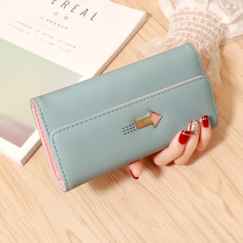 MONNET CAUTHY New Arrivals Long Wallets Classic Fashion Large Capacity Multi-card Slot Solid Color Pink Black Blue Women Wallet