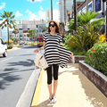 2016 High quality maternity dresses summer striped clothes for pregnant women irregular casual beach dress pregnancy wholesale
