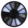 1 Caja de 1mm Color Mezclado Del Clavo 3D Art Decoraciones Coloridas de Obleas redondas Lentejuelas Uñas de la Rueda DIY Manicura Del Arte Del Clavo accesorios