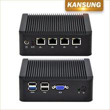 KANSUNG-K190G4U Quad Core Mini PC Ubuntu Linux J1900 X86 pfSense Mikro Bilgisayar 4 Gigabit Nic Fansız Küçük Güvenlik Duvarı Aletleri