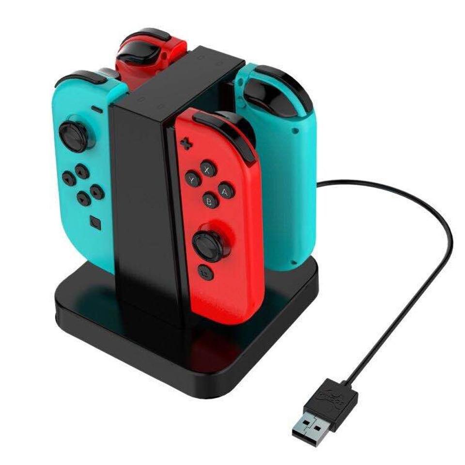 Купить с кэшбэком Nintendo Switch Charger Dock NS Joy-Con Charging Stand Station with LED Indicator