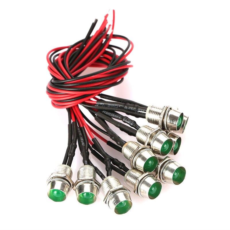 10PCS Red/White/Yellow/Blue/Green Color LED Signal Light DC 12V Indicator Light LED Emergency Signals Indicator Light Bulb
