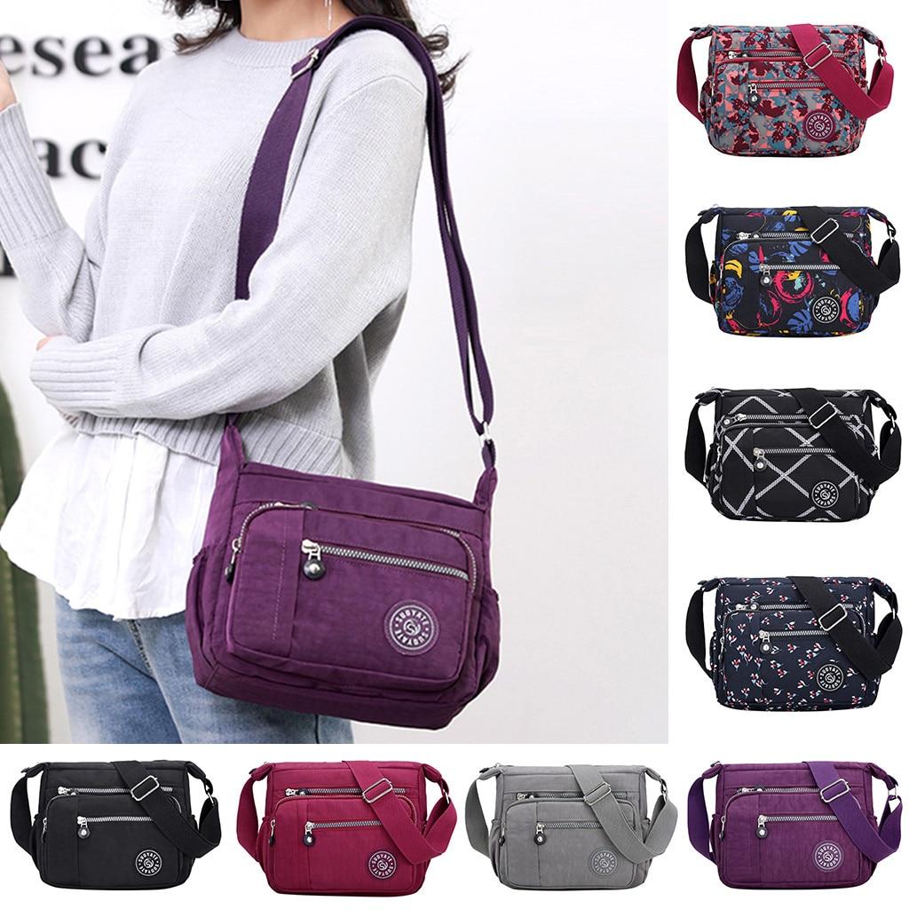 Women Composite Bag Luxury Leather Purse Fashion Nylon Messenger Single Shoulder Crossbody Bag Waterproof Bags 4pcs Ladies Set