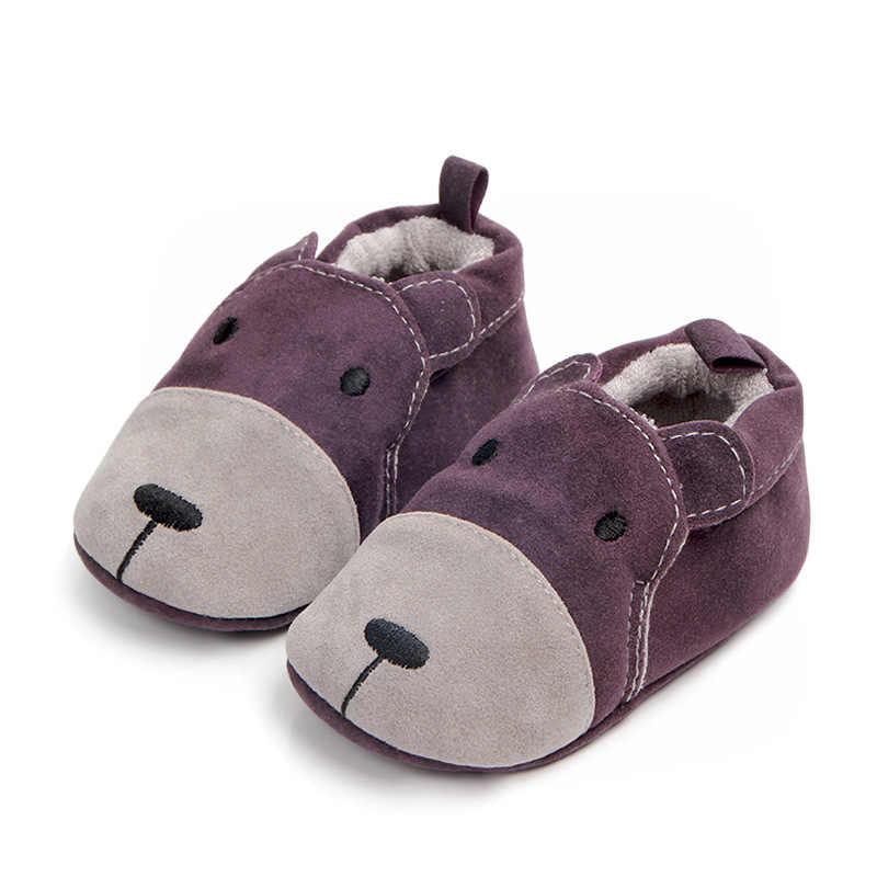 مولود جديد أحذية الرضع الأولى مشوا الكرتون المتسكعون لينة الأخفاف الانزلاق على أحذية سرير طفل النعال 0-18 M لصبي فتاة