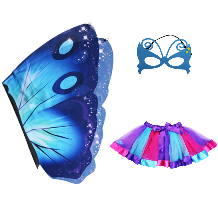 Kids Costumes & Accessories Costumes & Accessories Special Butterfly Wing Mask Skirt Girls Carnival Dress Cosplay Miraculous Toys Children Day Costume Kid Animal Girl Fairy A Wide Selection Of Colours And Designs