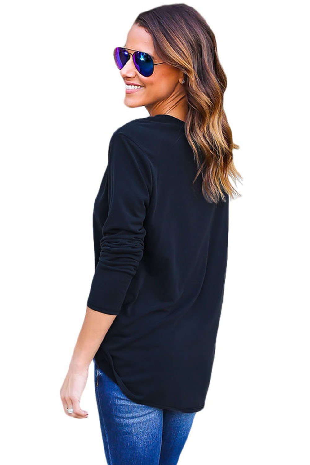 Navy-Long-Sleeves-Drape-Top-LC25995-105-2