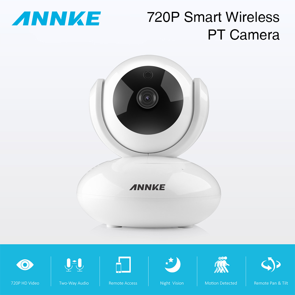 ANNKE EU 720P PTZ Home Security IP Camera Wireless Smart WiFi Camera Audio Record Surveillance Baby Monitor HD Mini CCTV Camera jcwhcam 720p ptz wifi ip camera wireless home security cctv surveillance camera p2p ir infrared two way audio baby monitor