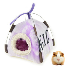 Cute Guinea Pig Hamster House Bed Hammock Winter Warm Squirrel Hedgehog Chinchilla Tent Cage Nest Accessories