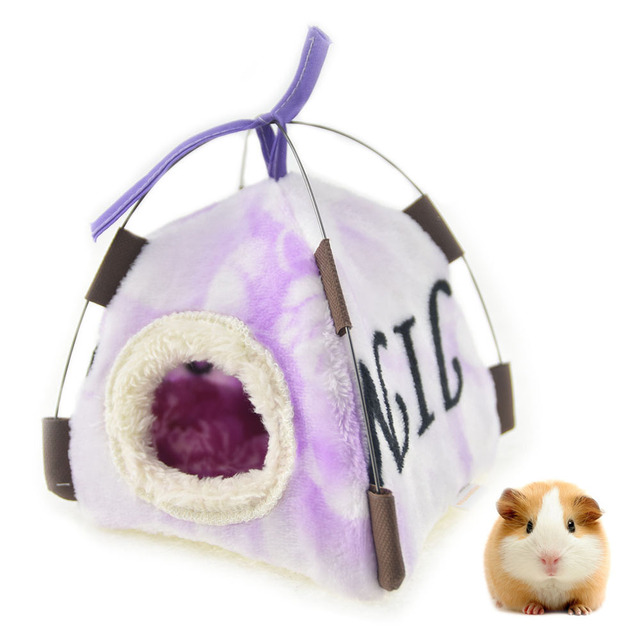 Cute Guinea Pig Hamster House Bed Hammock Winter Warm Squirrel Hedgehog Chinchilla Bed House Tent Cage Nest Hamster Accessories